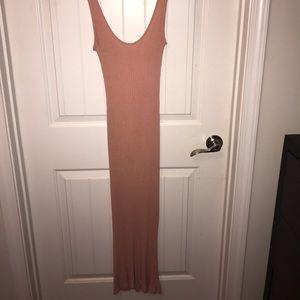 pink bodycon midi dress